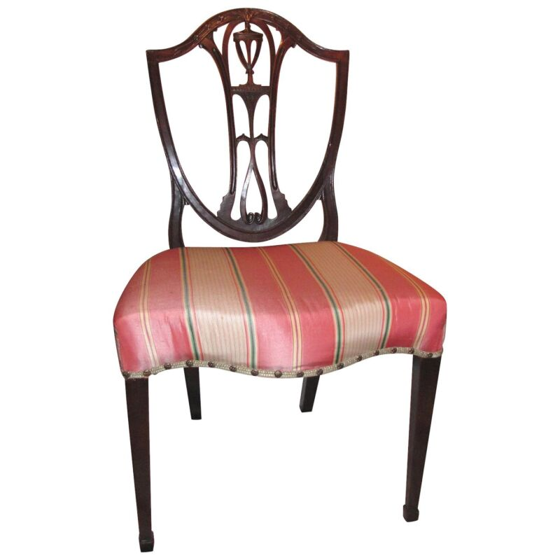 Antique English Mahogany Hepplewhite Dining Chairs Circa 1780 Set of 4