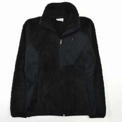 Columbia Pearl Plush II Fleece Jacket Monkey Fur Faux Black Womens XS Columbia Pearl Plush