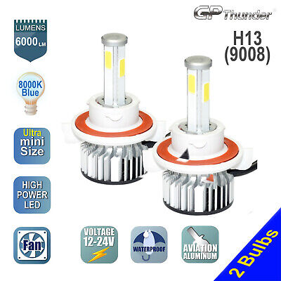 H13 4 Sides LED Headlight Bulb Dodge Ram 1500 2500 2006-2012 High Low Beam 8000K