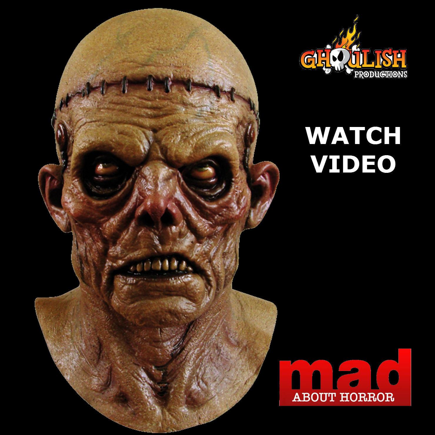 Deluxe FRANKENSTEIN Zombie Latex Collectors Mask-HALLOWEEN Horror ...