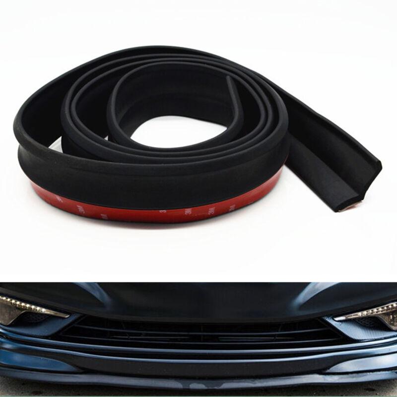 Car Front Bumper Lip Spoiler Protector Rubber Splitter Body Guard Skirt Cover BK