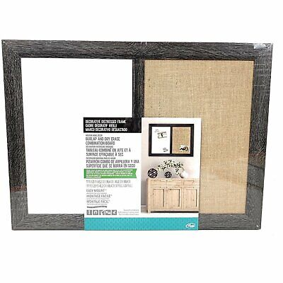 Used The Board Dudes Decorative Distressed Burlap And Dry Erase Board