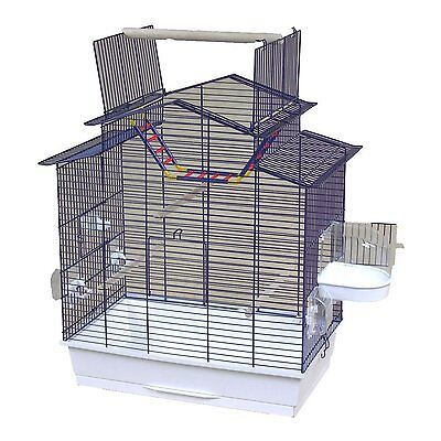 XXL Bird Cage budgerigar Canary with Outdoor Seating & Accessories