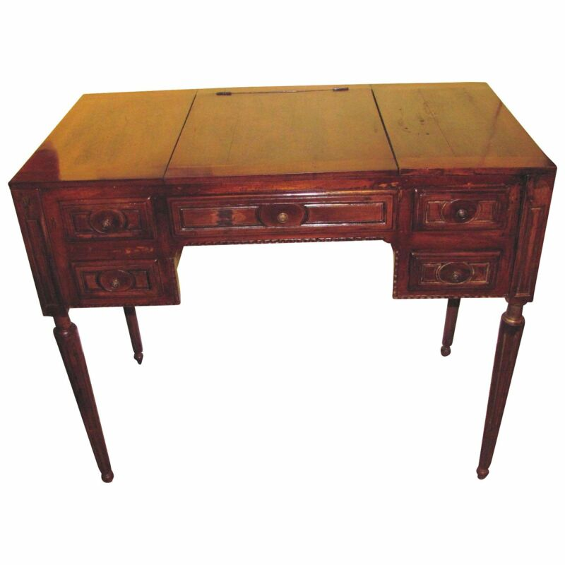 Antique French Louis XVI Fruitwood Dressing Table Circa 1790