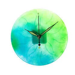 Hand Made Wall Clock Earth Made to Order Gift Blue and Green Light Glow in Dark