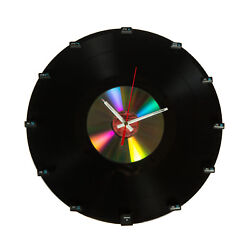 Wall Clock Vinyl - Hand Made feat. Keyboard Buttons - Authentic Gift