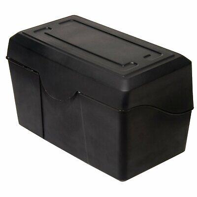 Advantus Plastic Durable Index Card Box 5 X 8 Inches Black