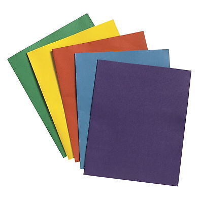 10 Pack, 2-Pocket Folders with 3-Prong Fastener