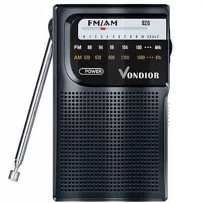 AM / FM Portable Pocket Radio - Best reception and Longest Lasting. AM