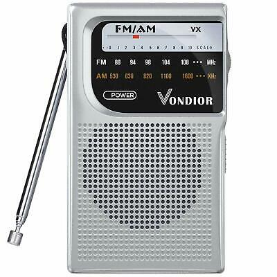 AM FM Battery Operated Portable Pocket Radio - Best Reception and Longest (Best Battery Powered Portable Radio)