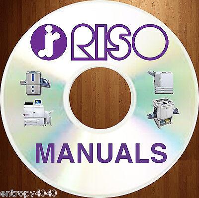 Newest Best Biggest Riso Duplicator Copier Service Manuals - Mz Ez Ev On Dvd