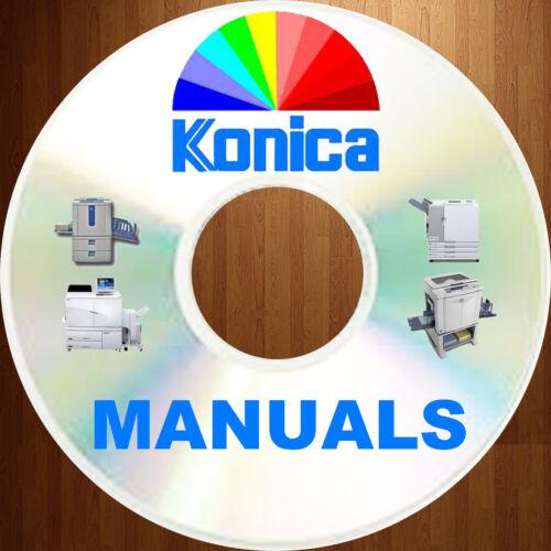 KONICA Copier Printer Manuals Fax Multi MFC Service Manual & PARTS CATALOGS DVD