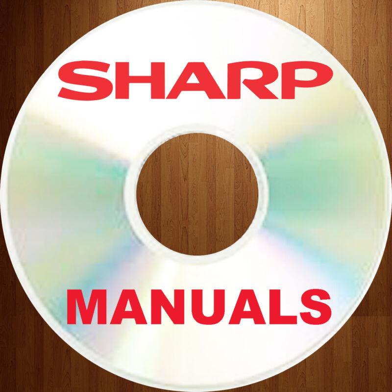 SHARP BIGGEST COLLECTION COPIER FAX MFC SERVICE REPAIR MANUALS PARTS MANUAL DVD