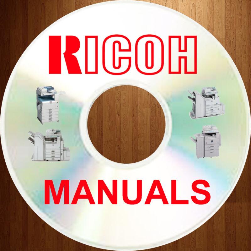 Ricoh COLOR COPIER Copiers Manual SERVICE MANUALS & PARTS CATALOGS on a DVD