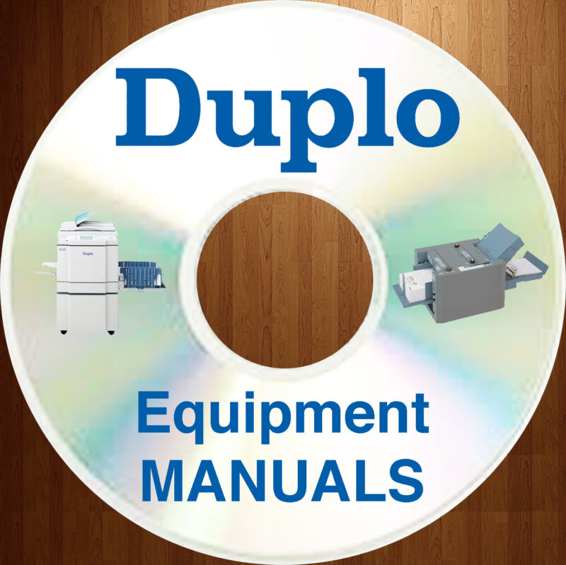 Duplo Equipment Service Repair Manuals Parts Catalog User Guide Maintenance CD