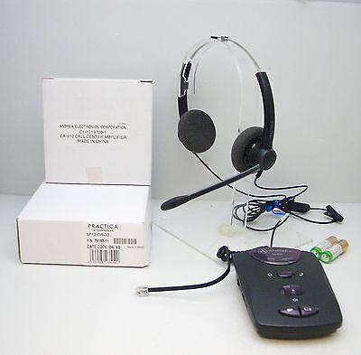 Plantronics Practica SP12-C Binaural Headset + CA-910 Amplif