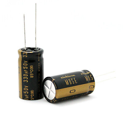 2pcs Japan Nichicon 330uf50v Most High-end Muse Kz Audio Electrolytic Capacitor