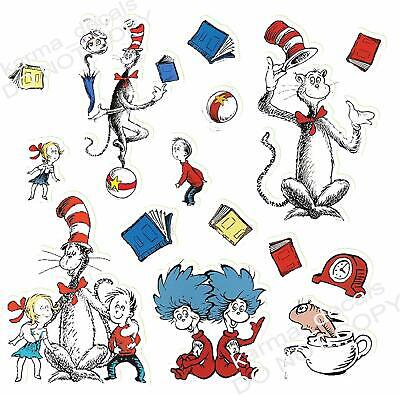 Dr Seuss sticker set 15 pieces Decal Movie WALL STICKER Home Decor Art Sticker  - Dr Seuss Stickers