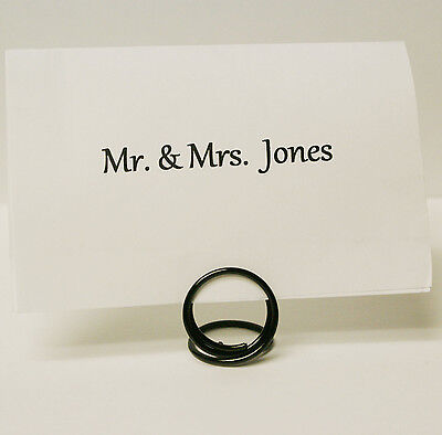 Black Place Card Holders Table Top Wedding Decor Set of 10 (small) Wedding Table Card Holders