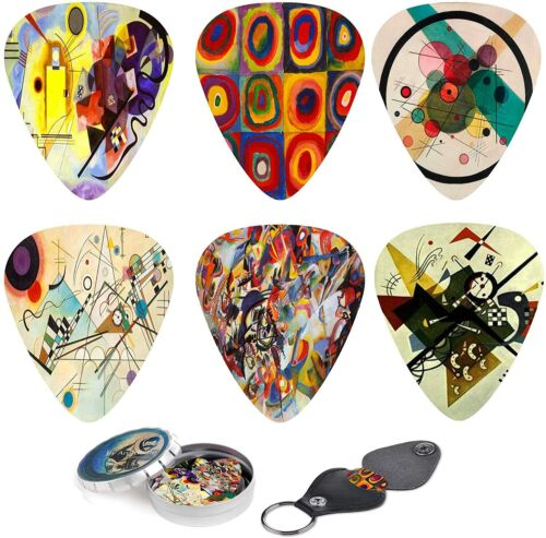 Abstract Art Cool Guitar Picks - Wassily Kandinsky Paintings
