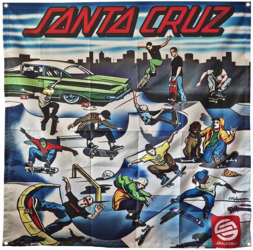 Santa Cruz flag Skateboards Poster 4x4ft banner
