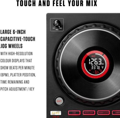 Numark Mixtrack Platinum FX 4-Deck Serato DJ Controller w Displays & FX Paddles