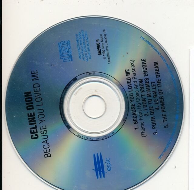 Celine Dion - Because You Loved Me Cd Only