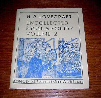 H.P. LOVECRAFT UNCOLLECTED PROSE & POETRY V.2 NECRONOMICON PRESS OUT OF PRINT