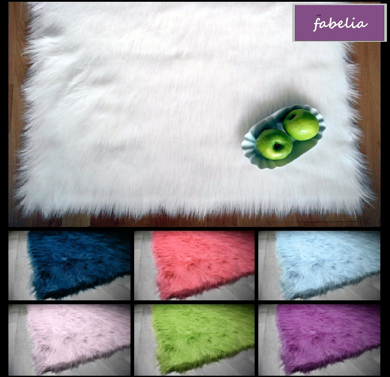 "Flokati-Stil Kuschel Hochflor Shaggy Teppich ""Ameiny Colors""  - Kunstfell Carpet"