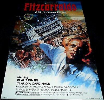 1982 Fitzcarraldo ORIGINAL US 1SHEET POSTER Werner Herzog Klaus Kinski 1SH
