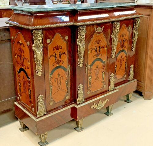 Vintage Reproduction French Empire Style Sideboard with Ormolu