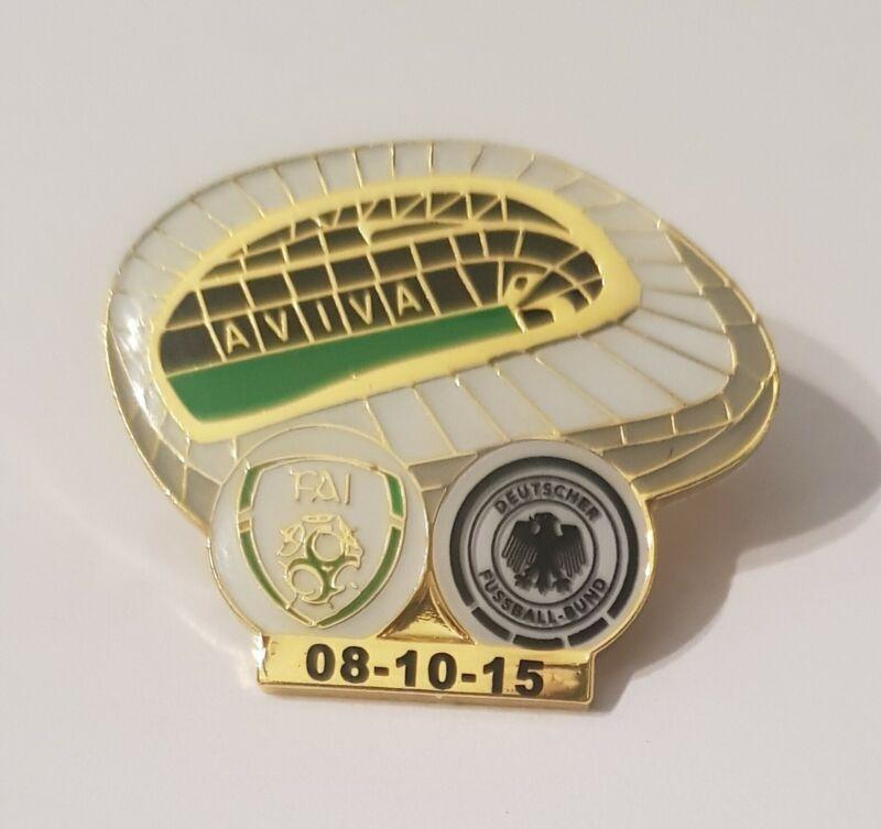 Ireland (1) v Germany (0) match badge UEFA Euro qualifier Aviva stadium 08/10/15