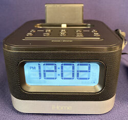iHome Model iPL8 Stereo Alarm FM Clock Radio With iPhone Charger with USB Outlet