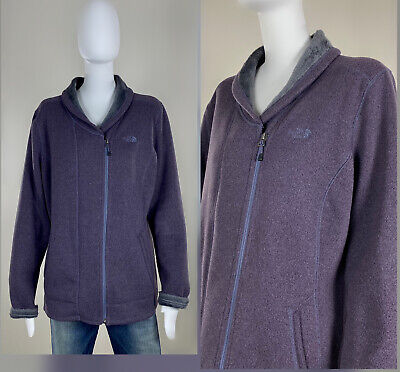 The North Face Zermatt Shawl Fleece Knit Zip Cardigan Jacket XL EXCELLENT