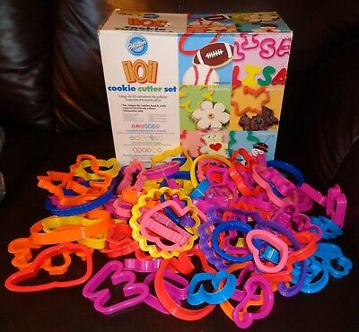 Set of 95-Wilton Cookie Cutter Set-Alphabet,Numbers,Holiday's,Sports,Animal Pals
