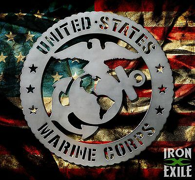 US Marine Corps. Military Decor Metal Wall Art Sign USMC EGA OFFICIALLY LICENSED