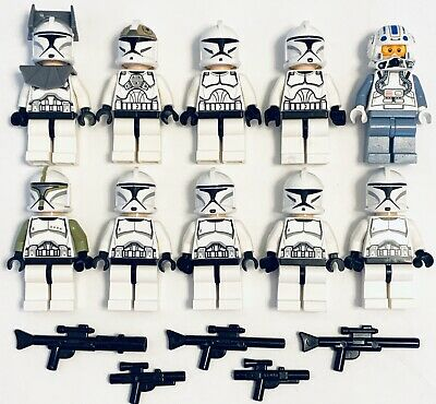 LEGO Star Wars Minifigures Clone Wars Lot of 10x Clone Trooper Sergeant Capt Jag