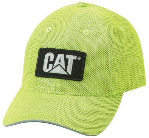Caterpillar CAT Equipment Hi-Vis Safety Yellow Reflective Mesh Cap/Hat