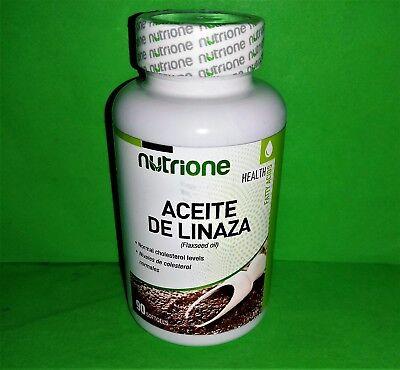 Aceite de Linaza 1000mg 90 perlas NUTRIONE