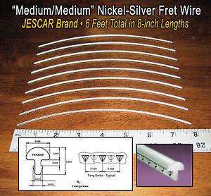 6-feet-of-Medium-Medium-Premium-Jescar-Nickel-Silver-Fret-Wire-Frets-10-08-01