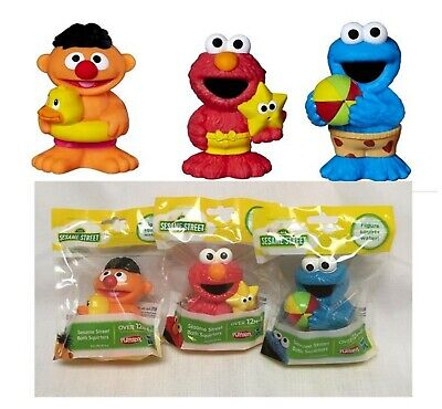 *Authentic* Set of (3) SESAME STREET Bath Squirters ERNIE ELMO COOKIE MONSTER - Sesame Street Cookies