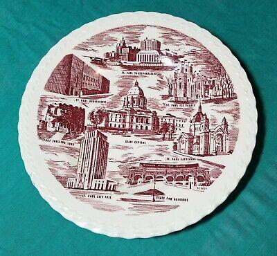Vernon Kilns Plate Saint Paul Minn. made for Schuneman's Inc. closed in 1958 for sale  Alta
