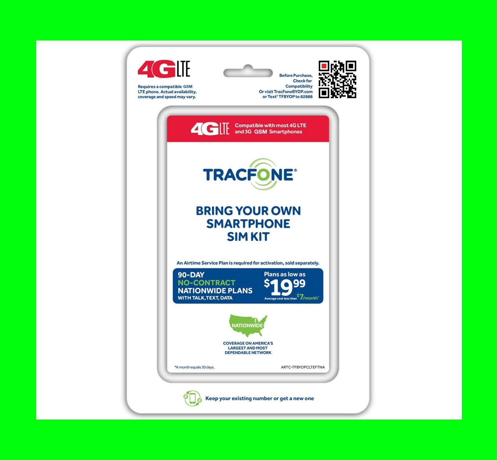 Tracfone Wireless Dual SIM Card W 1 Year X 3 1200 MIN 120...