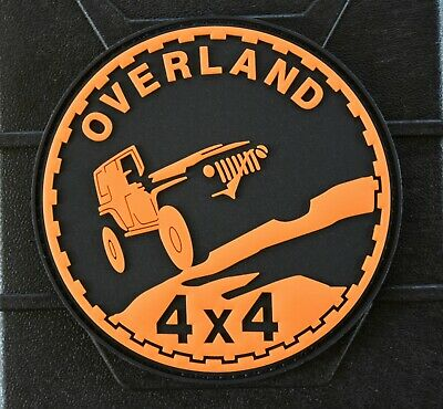 4x4 Overland 3D PVC Morale Patch 4WD Offroad Jeep Wrangler RTT Overland Trail