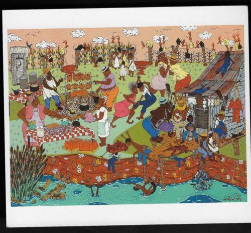 Folk Art By Hambone:Bayou Bar-B-que #175d