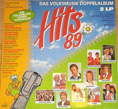 VA, Das Volksmusik Doppelalbum  Hits 89, VG+/VG++ 2 LP (6950)
