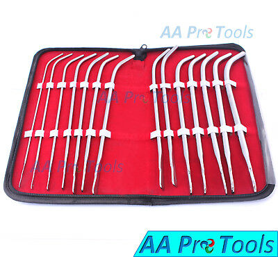 Aa Pro Van Buren Sound Urethral Obgyn Curved 14 Pieces Kit Surgical Instrument