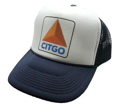 Vintage Citgo gasoline Hat Trucker hat adjustable Snap back cap Navy Blue - Nascar Womens Hats