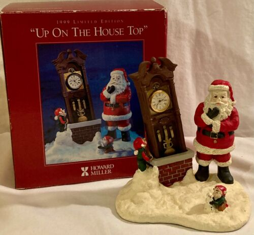 """Howard Miller 1999 Limited Edition """"Up On The House Top"""" Christmas"""