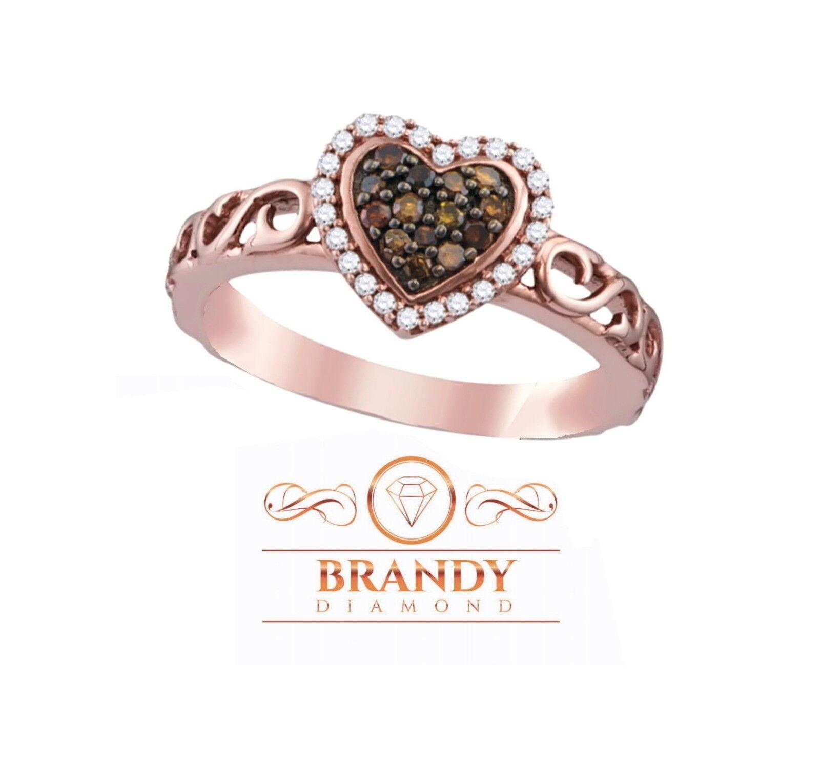 Brandy Diamond Chocolate Brown 18K Rose Gold Silver Always I